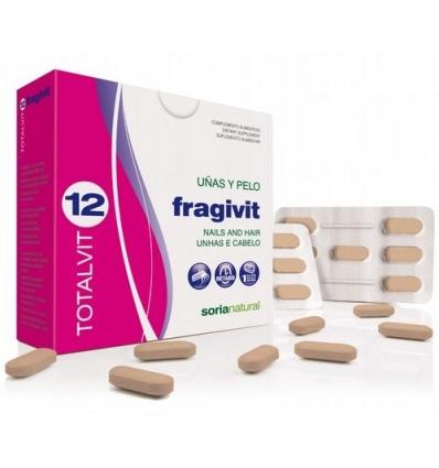 15 Fragivit uñas y pelo 28 comprimidos. Totalvit 12