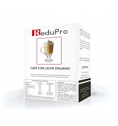 ReduPro Bebida de Café con Leche Italiano, 1 caja 7 sobres
