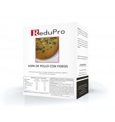 ReduPro Sopa de Pollo con Fideos, caja con 7 sobres