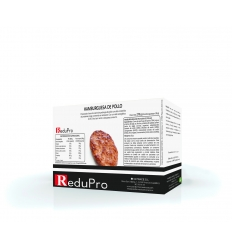 ReduPro Hamburguesa de pollo proteinada. caja 4 unidades