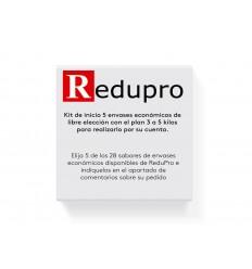 ReduPro Kit inicio, con plan 3 a 5 kilos, de 5 envases economicos de libre eleccion.