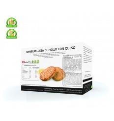 ReduPro Hamburguesa de pollo con QUESO proteinada, caja de 4 unidades