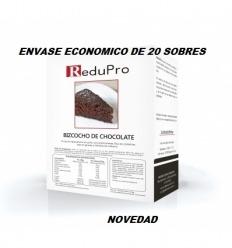 ReduPro Pastel Bizcocho de chocolate, envase económico 20 sobres unidosis.