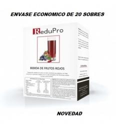 ReduPro Bebida de Frutos Rojos ENVASE ECONOMICO caja con 20 sobres unidosis
