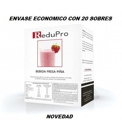 ReduPro Bebida de Fresa-Piña. ENVASE ECONOMICO. caja con 20 sobres
