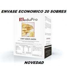ReduPro CREP Limón, Tortita Pancake, ENVASE ECONOMICO caja de 20 sobres