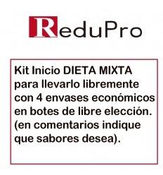 ReduPro Kit inicio DIETA MIXTA Para llevarla a cabo libremente. 4 botes económicos ReduPro de libre elección.
