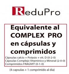 00A EQUIVALENTE al COMPLEX PRO en capsulas y comprimidos linea Reduc Siluet. 1 mes