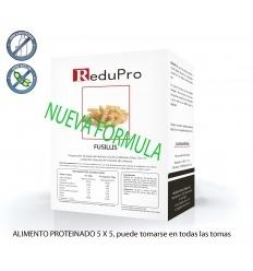 ReduPro Fussilli, Pasta Alimenticia Proteinada, 4 sobres