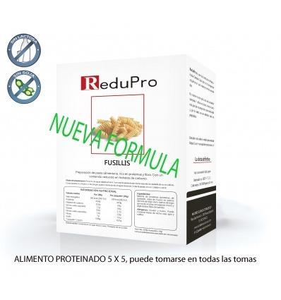 ReduPro Fussilli, Pasta Alimenticia Proteinada 4 sobres