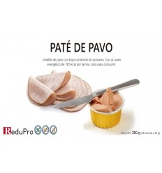 ReduPro Tarrina de Pate untable de Jamon de Pavo. 1 tarrita unidosis.