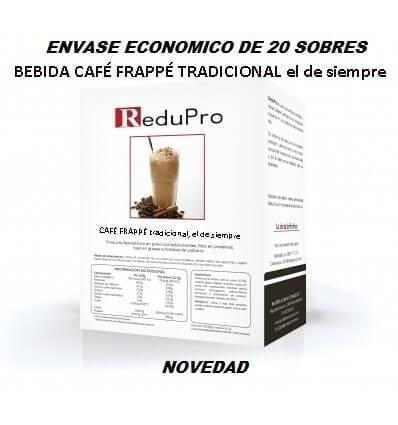ReduPro Bebida de Café Frappe envase economico caja de 20 sobres