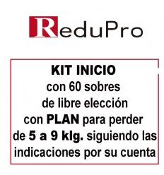 ReduPro Kit inicio con Plan de 5 a 9 kilos con 60 sobres de libre elección.