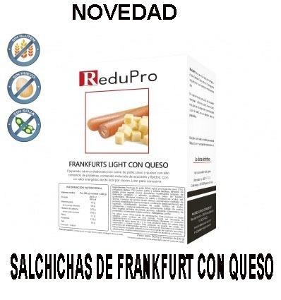 ReduPro Salchichas de Frankfurt con QUESO, caja 4 raciones